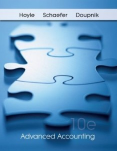 Test bank for Advanced Accounting 10th edition by Hoyle