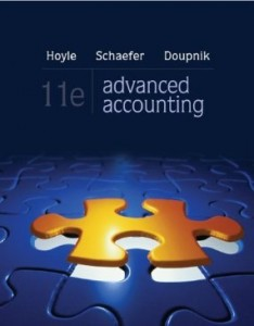 Test bank for Advanced Accounting 11th Edition by Hoyle