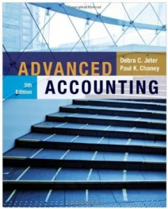 Test bank for Advanced Accounting 5th Edition by Jeter