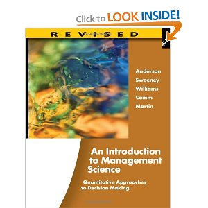 Test bank for An Introduction to Management Science Quantitative Approaches to Decision Making 13th Anderson Sweeney Williams