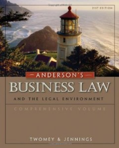 Test bank for Andersons Business Law and the Legal Environment 21st Edition by Twomey