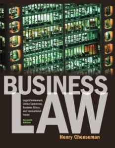 Test bank for Business Law 7th Edition by Cheeseman
