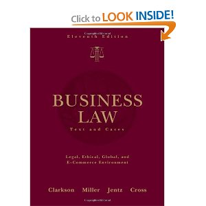 Test bank for Business Law Text and Cases 11th Edition Clarkson