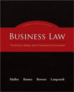 Test bank for Business Law The Ethical Global and E-Commerce Environment 14th Edition by Mallor