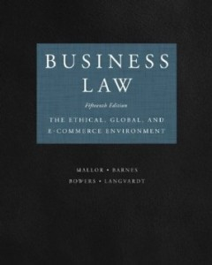 Test bank for Business Law The Ethical Global and E Commerce Environment 15th Edition by Mallor