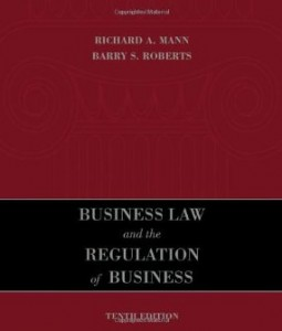 Test bank for Business Law and the Regulation of Business 10th Edition by Mann