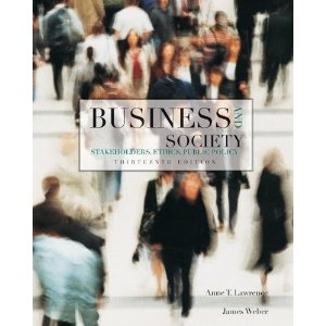 Test bank for Business and Society Stakeholders Ethics Public Policy 13th Edition Lawrence
