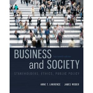 Test bank for Business and Society Stakeholders Ethics Public Policy 14th Edition Lawrence
