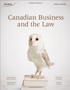 Test bank for Canadian Business and The Law 4th Edition by Duplessis