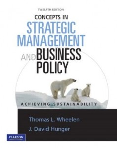 Test bank for Concepts in Strategic Management and Business Policy 12th Edition by Wheelen