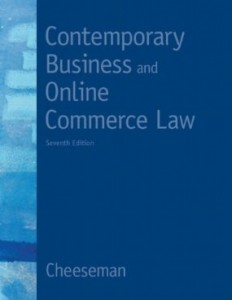 Test bank for Contemporary Business and Online Commerce Law 7th Edition by Cheeseman
