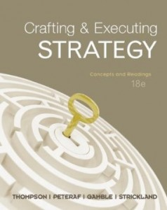 Test bank for Crafting and Executing Strategy The Quest for Competitive Advantage Concepts and Cases 18th Edition by Thompson