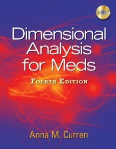 Test bank for Dimensional Analysis for Meds 4th Edition by Curren