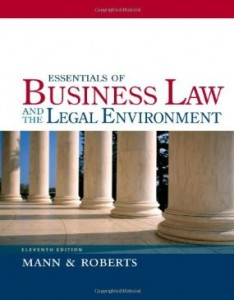 Test bank for Essentials of Business Law and the Legal Environment 11th Edition by Mann