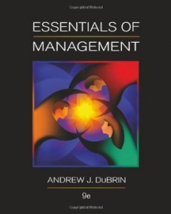 Test bank for Essentials of Management 9th Edition by Dubrin
