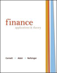 Test bank for Finance Applications and Theory 1st Edition by Cornett