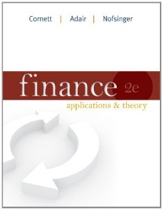 Test bank for Finance Applications and Theory 2nd Edition by Cornett