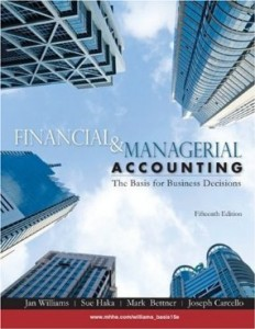 Test bank for Financial and Managerial Accounting 15th edition by Williams