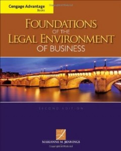 Test bank for Foundations of the Legal Environment of Business 2nd Edition by Jennings