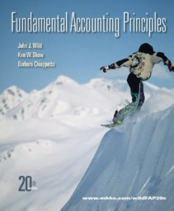 Test bank for Fundamental Accounting Principles 20th edition by Wild
