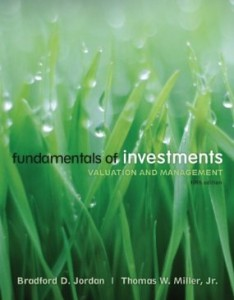 Test bank for Fundamentals of Investments Valuation and Management 5th Edition by Jordan