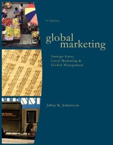 Test bank for Global Marketing 5th Edition by Johansson