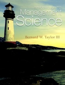 Test bank for Introduction to Management Science 11th Edition by Taylor