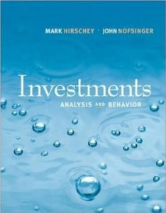 Test bank for Investments Analysis and Behavior 1st Edition by Hirschey