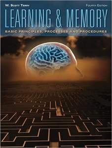 Test bank for Learning and Memory 4th Edition by Terry
