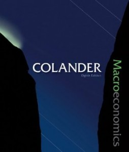 Test bank for Macroeconomics 8th Edition by Colander