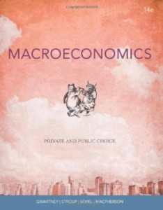 Test bank for Macroeconomics Private and Public Choice 14th Edition by Gwartney