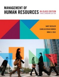 Test bank for Management of Human Resources 3rd Canadian Edition by Dessler