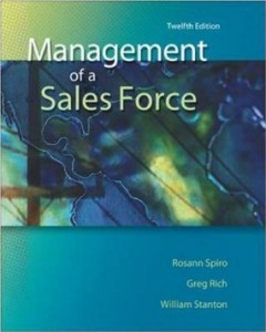 Test bank for Management of a Sales Force 12th Edition by Spiro