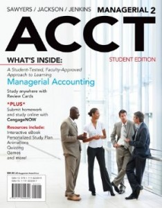 Test bank for Managerial ACCT2 2nd Edition by Sawyers