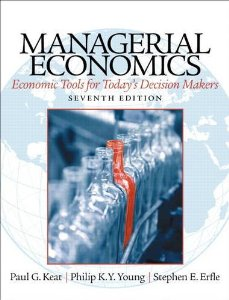 Test bank for Managerial Economics 7th Edition by Keat