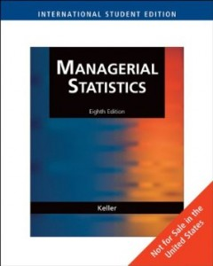 Test bank for Managerial Statistics International Edition 8th Edition by Keller