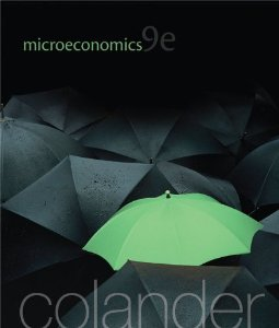 Test bank for Microeconomics 9th Edition by Colander