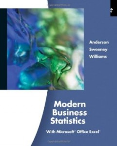Test bank for Modern Business Statistics 4th Edition by Anderson