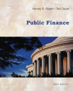 Test bank for Public Finance 9th Edition by Rosen