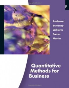 Test bank for Quantitative Methods for Business 11th Edition by Anderson