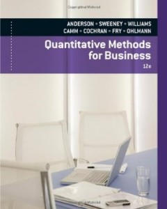 Test bank for Quantitative Methods for Business 12th Edition by Anderson