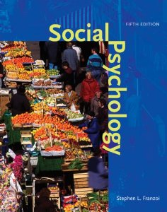 Test bank for Social Psychology 5th Edition by Franzoi