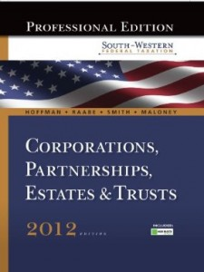 Test bank for South Western Federal Taxation 2012 Corporations Partnerships Estates and Trusts 35th Edition by Hoffman
