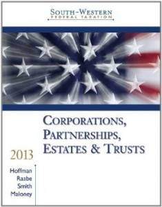 Test bank for South Western Federal Taxation 2013 Corporations Partnerships Estates and Trusts 36th Edition by Hoffman