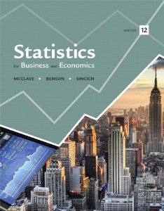 Test bank for Statistics for Business and Economics 12th Edition by McClave