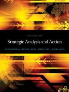 Test bank for Strategic Analysis and Action 8th Edition by Crossan