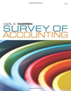 Test bank for Survey of Accounting 5th Edition by Warren