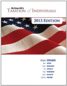 Test bank for Taxation of Individuals 2013 4th Edition by Spilker