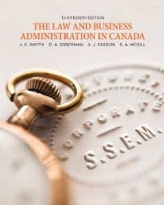 Test bank for The Law and Business Administration in Canada 13th Edition by Smyth