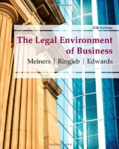 Test bank for The Legal Environment of Business 11th Edition by Meiners